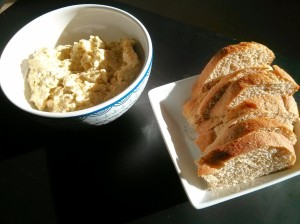 Chickpea Salad & Homemade Bread