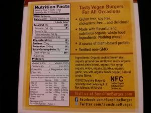 Sunshine Burger Label