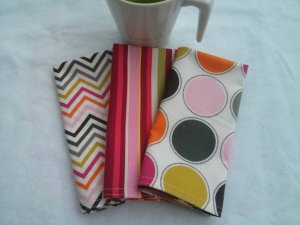 Funky Fresh Geometric Cloth Napkins - Set of 3 (12
